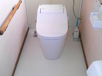トイレリフォーム お掃除がしやすく汚れも付着しにくくなったトイレ