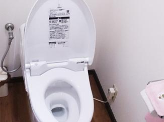 トイレリフォーム 節水性とデザイン性を重視し、使い勝手の良くなったトイレ