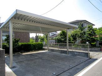 エクステリアリフォーム 駐車スペースを広く確保した、風に負けない頑丈なカーポート