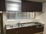 キッチンリフォーム乾燥機付きダウンウォールで快適に使えるキッチン