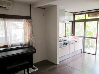 キッチンリフォーム 冬も快適に過ごせる床暖房を取り入れたLDK