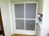 バスルームリフォームシンプルな見た目になり、より使いやすくなった浴室扉