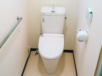 トイレリフォーム 和式から洋式へ、バリアフリーで快適な明るいトイレ