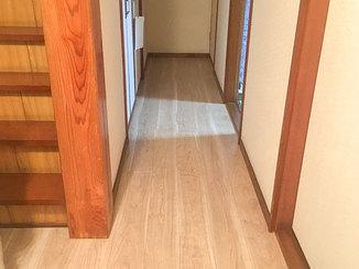 内装リフォーム 部屋の段差を解消し、明るくなった玄関と廊下